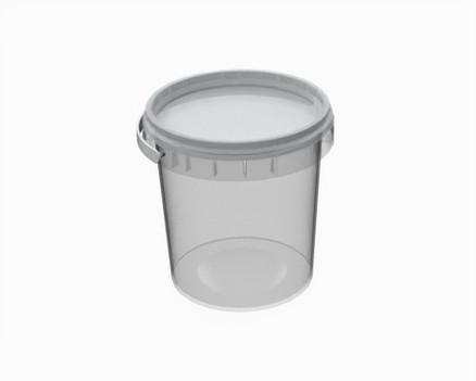 """דלי פלסטיק 155/69 מ""""ל עגול ז.פ."""