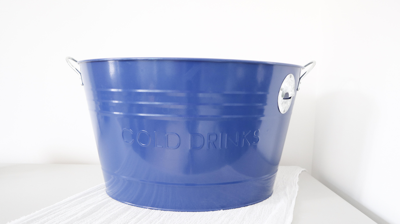 Blue Drinks Bucket