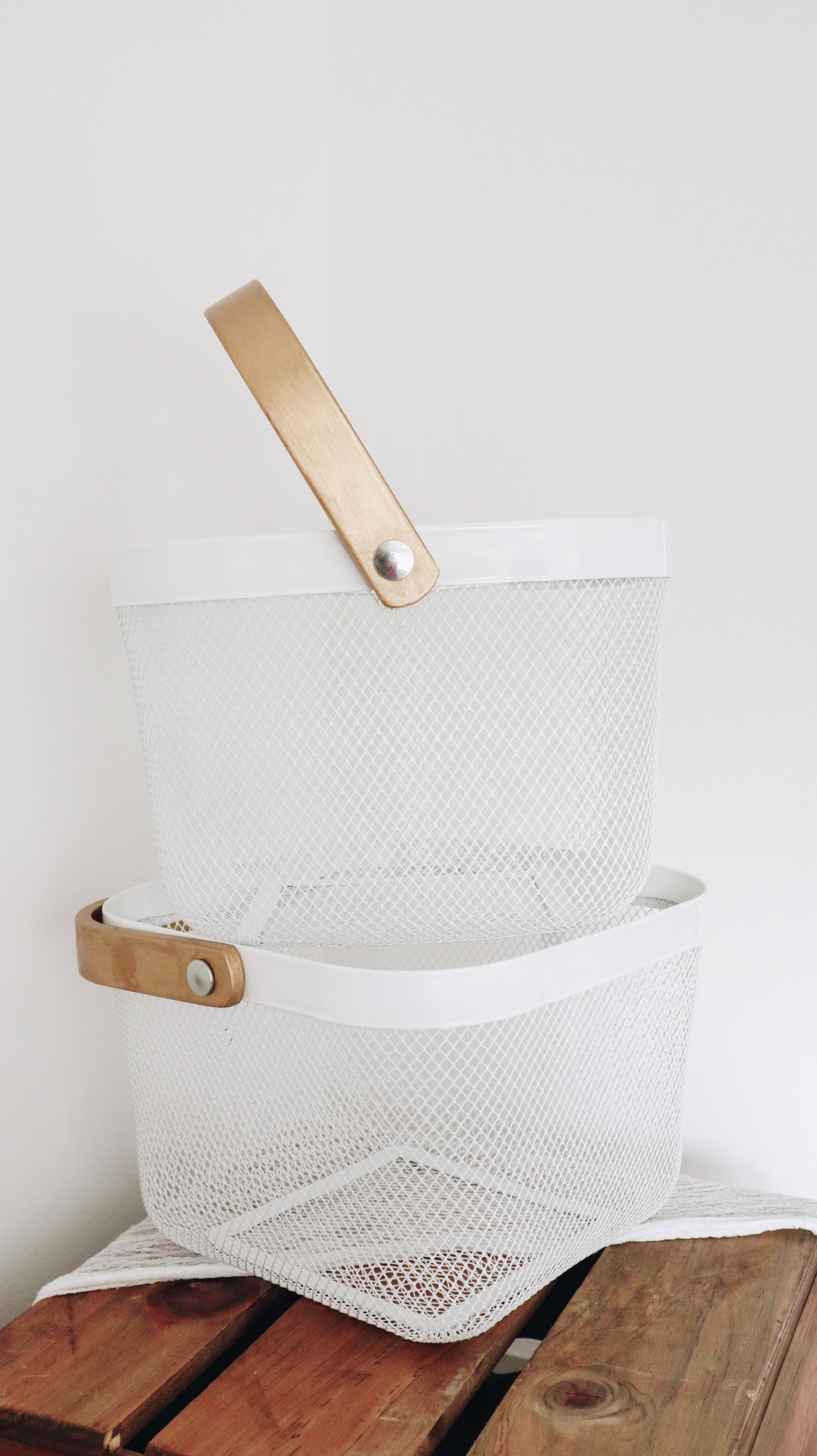 White and Gold baskets