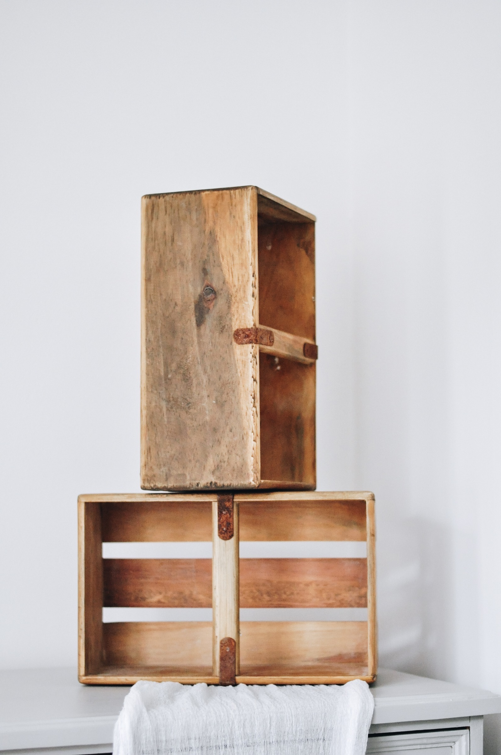 Wooden Crates with Handle