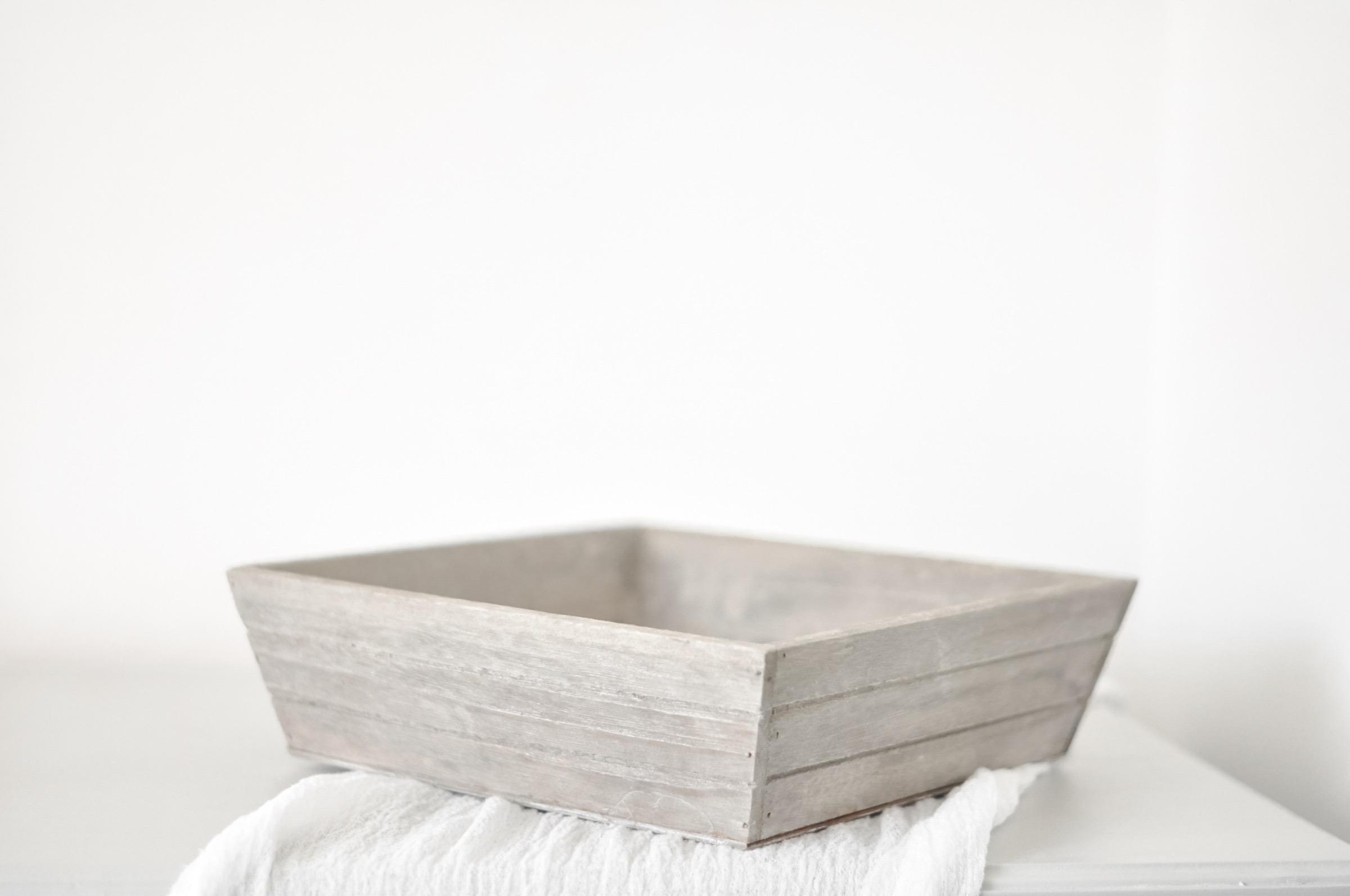 Grey Wooden Tray