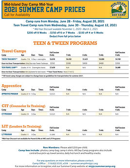 Camp Mid-YEAR PRICES Summer 2021_TWEEN&T