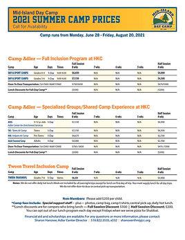 Camp PRICES Summer 2021_CAMP ADLER REVIS