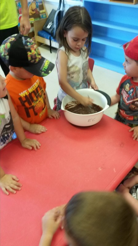 Making a yummy treat!
