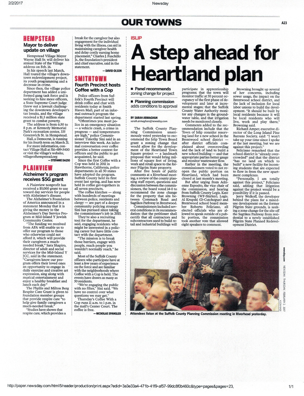 The Article As Featured In Newsday