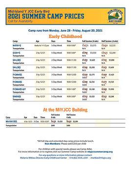Camp Early Bird PRICE LIST Summer 2021_P