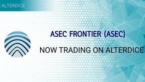 ASEC Frontier was successfully listed on Alterdice on October 12, 2019