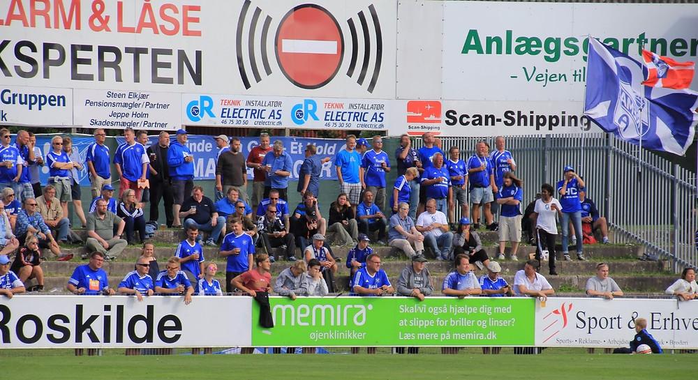 Fremad Amager fans i Roskilde