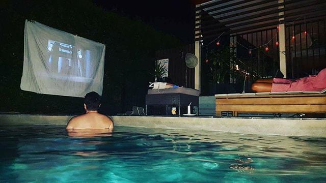 Pool & Movie