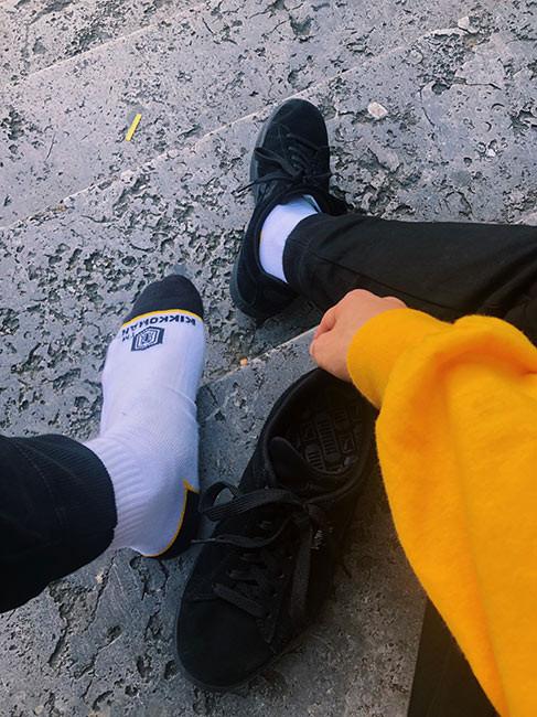 パルクールアスリートSEIが世界大会で優勝。靴下はキッコーマン。