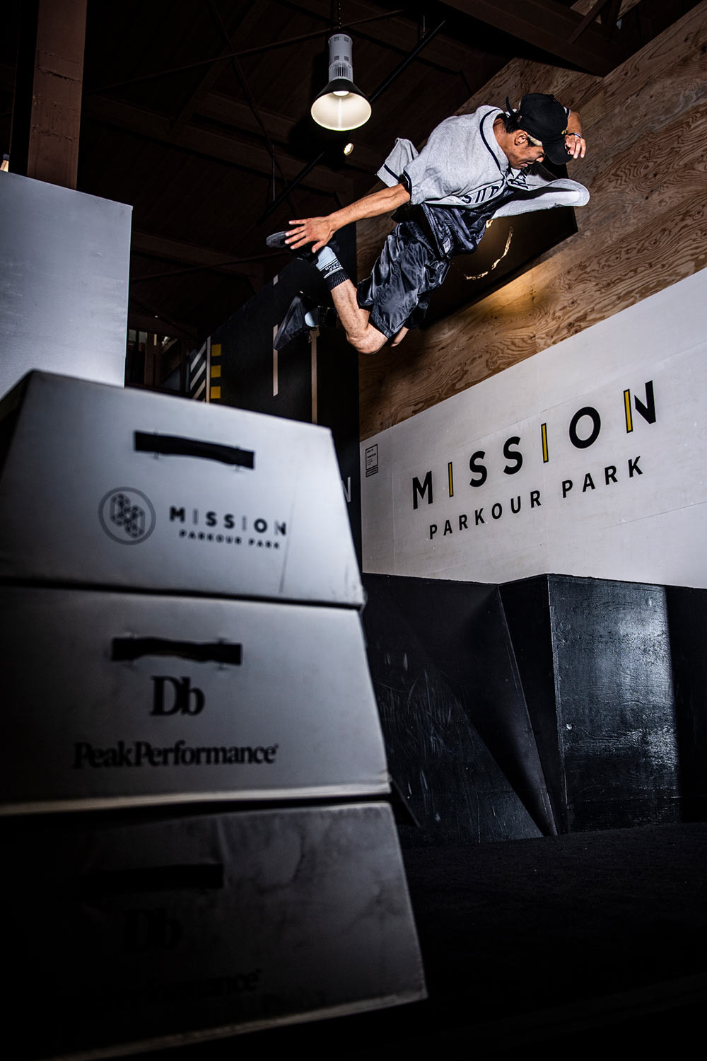 MISSION PARKOUR PARK TOKYOにてTAISHIスチール撮影