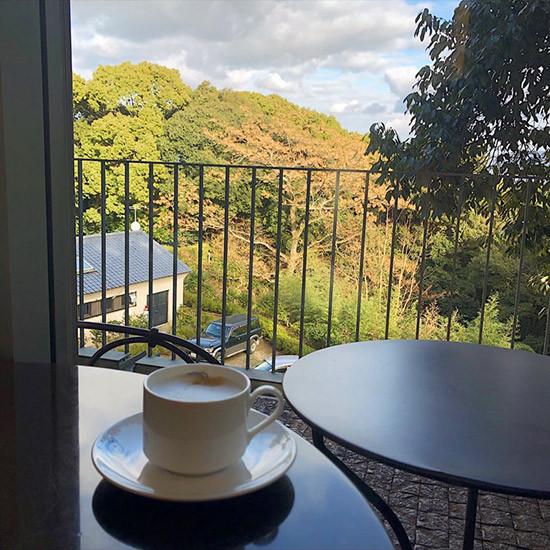 神金比羅山近くのカフェ神椿