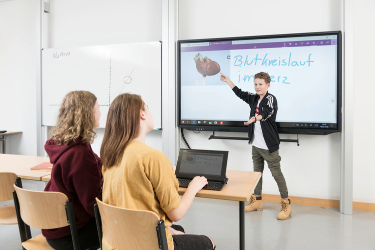 Präsentation eines Schülers