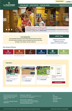 The Ford Family Foundation website