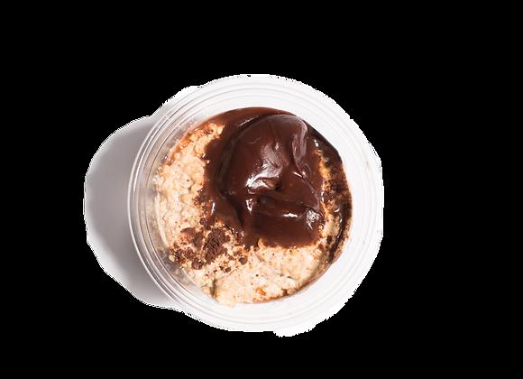 Nutella Stuffed Crepe Overnight Oats