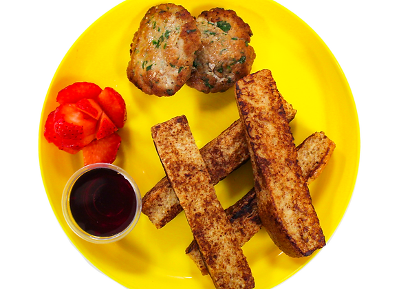 French Toast Sticks with Sausage