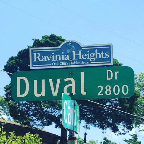 Ravinia Heights Sign Topper