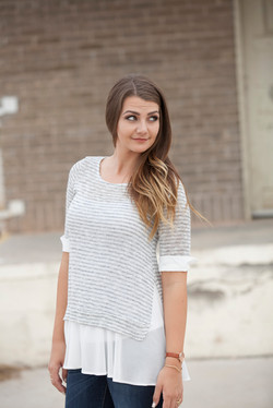 knit shirt with pleated detailing 3