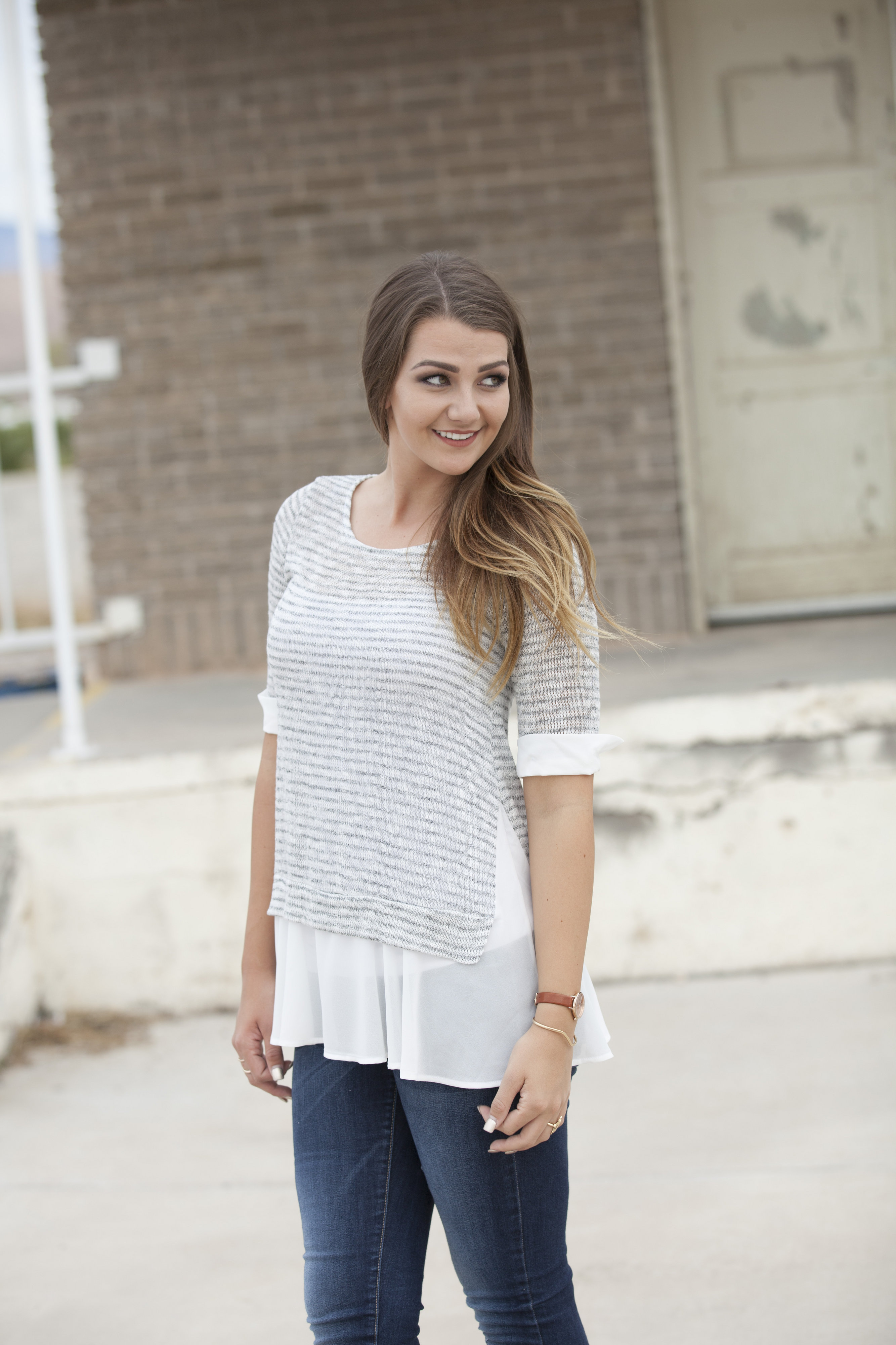 knit shirt with pleated detailing 2