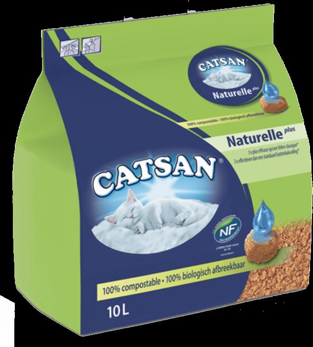 Litière végétale non agglomérante CATSAN