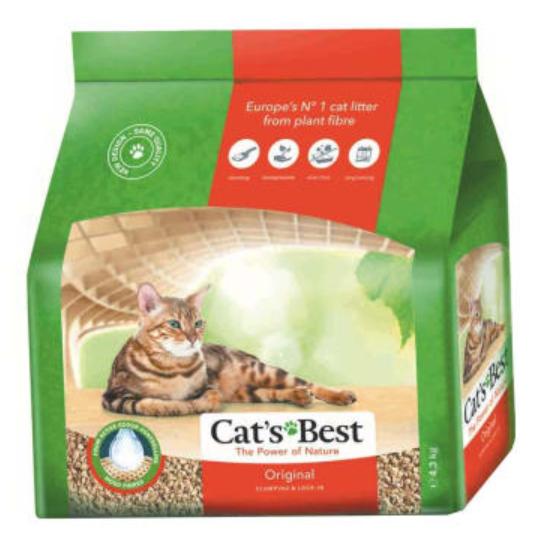 Litière végétale agglomérante CAT'S BEST
