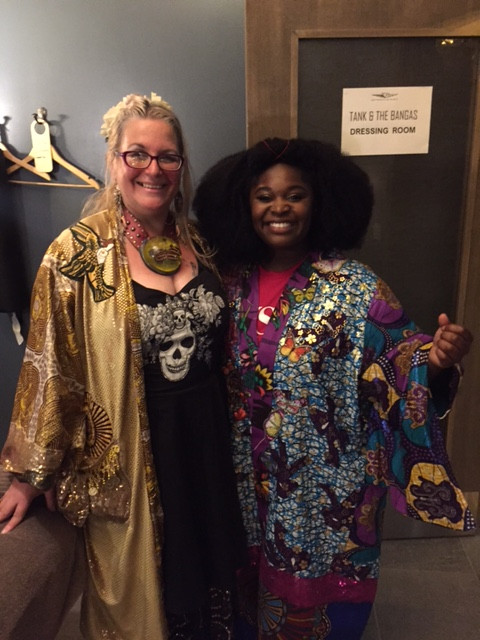 Tarriona Ball ( Tank) and Diane Goldie in kimonos