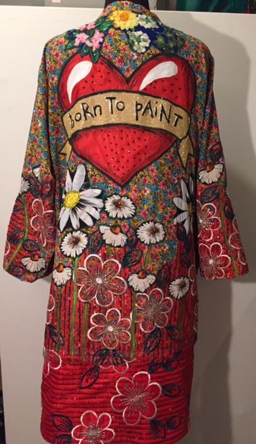 Bespoke art kimono by Diane Goldie