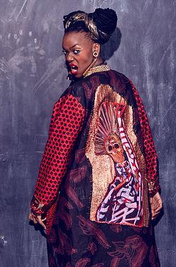 Grace Jones art kimono
