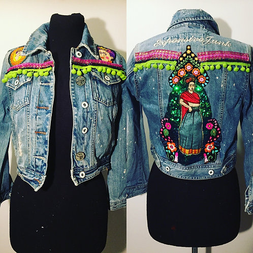 Frida pompom denim jacket