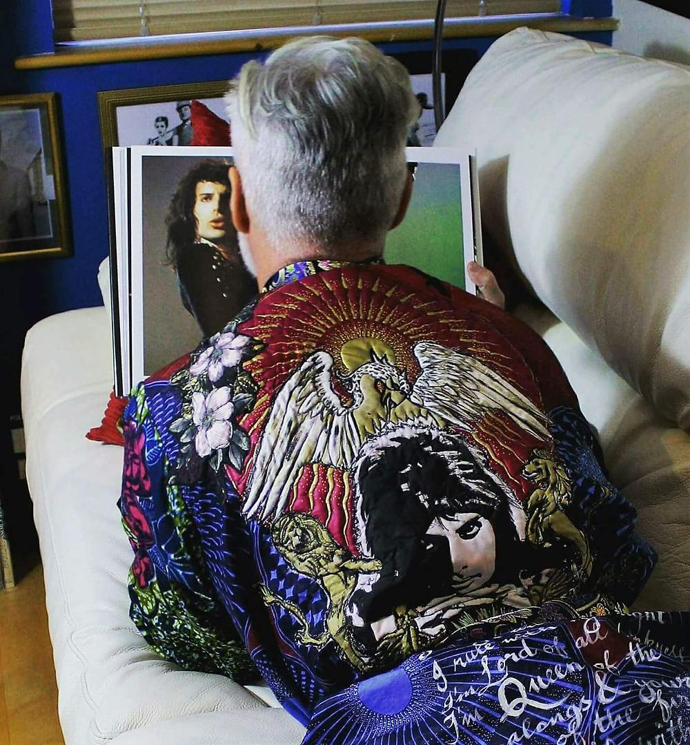 Man wearing Freddie Mercury Bohemian Rhapsody Kimono