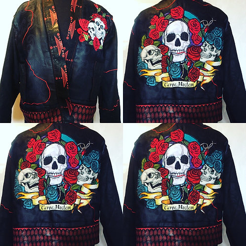 Rock and Roll lined cropped kimono jacket