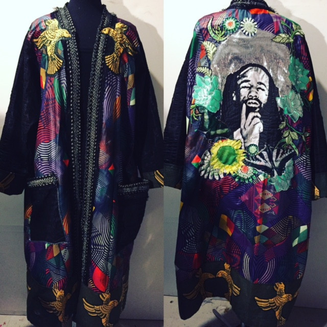 Men's kimono with Norm from Tank and the Bangas