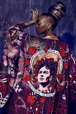 feminist textile art kimono medusa frida kahlo