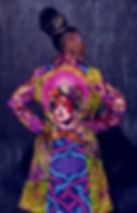 colourful art coat Frida Kahlo Bowie