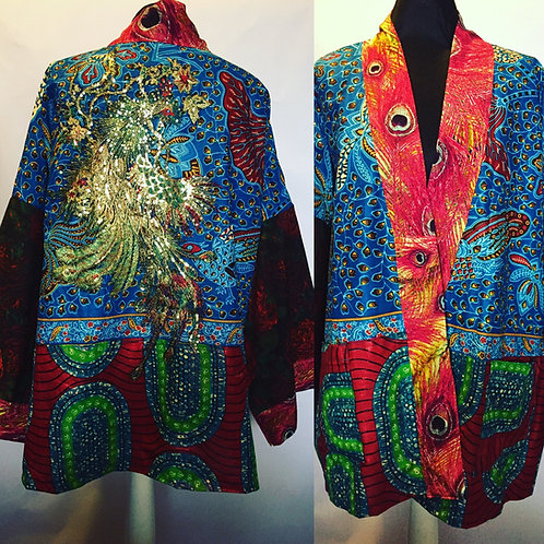 Peacock gender neutral jacket