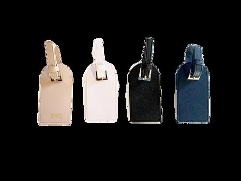 Saffiano Leather Luggage Tags