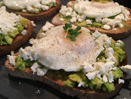 Poached egg, Feta & Avocado Toast
