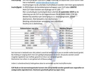 Uitnodiging CJJF-Bondskampioenschap