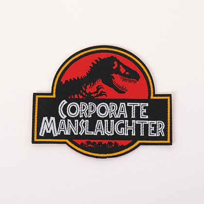 Corporate Manslaughter - Embroidered Iron-on Patches