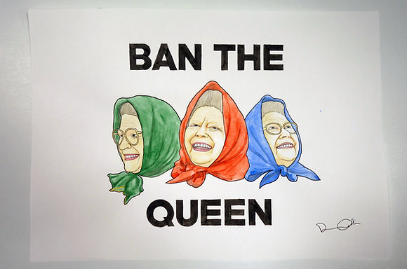 Ban the Queen - Original Illustration (A3 size)