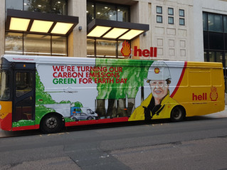 HELL BUS AT SHELL HQ