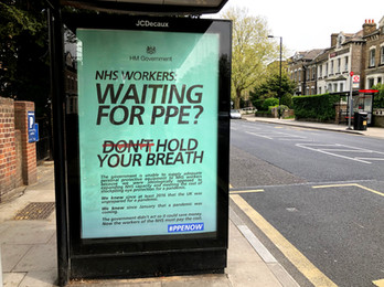 This #PPENow poster I designed has been installed in London by Special Patrol Group.    The govt is criminally negligent in its preparation and response to this pandemic. We desperately need the media and the opposition to stop treating the govt with kid gloves and hold them to account.
