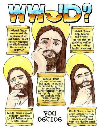 What Would Jesus Do? - Limited edition giclee print
