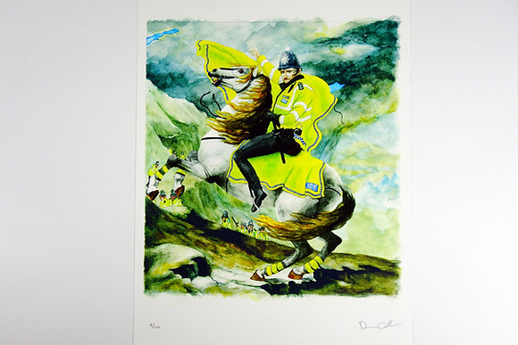 Police Horse Napoleon - Limited edition giclee print