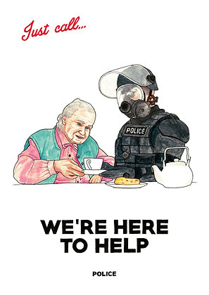 Police - We're Here to Help - Limited edition giclee print