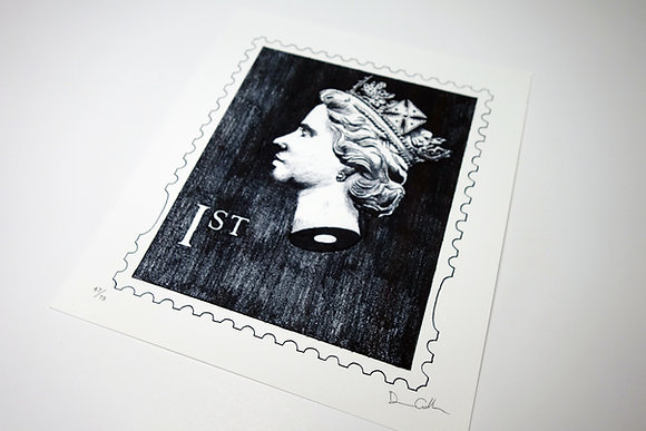 Beheaded Queen Stamp - Limited edition giclee print