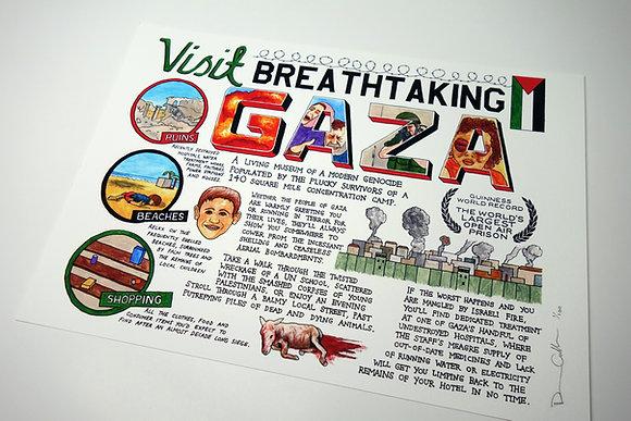 Visit Breathtaking Gaza - Limited edition giclee print