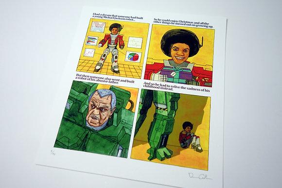 Michael Jackson Child Robot - Limited edition giclee print