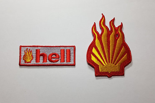 Hell - Embroidered Iron-on Patches