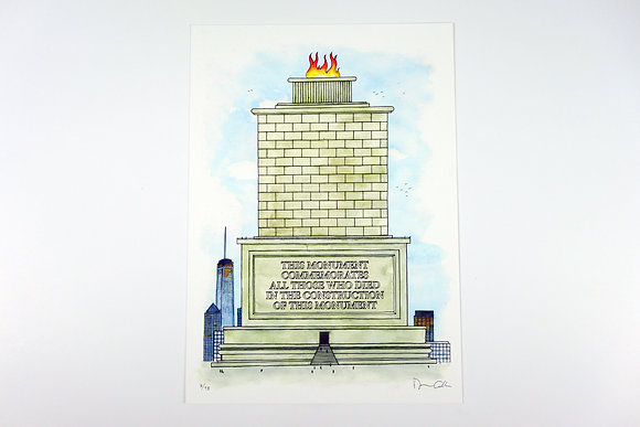 Monument - Limited edition giclee print